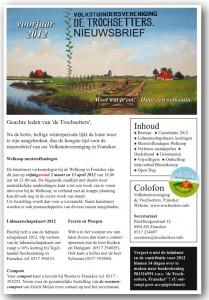 Nieuwsbrief de trochsetters voorjaar 2012